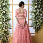 Peach Embroiered Work Lehenga Choli With Fancy Style Dupatta (1)