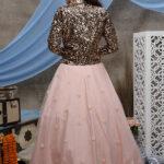 Peach Lehenga Choli with Sequnice Emboridered Koti Collection (1)