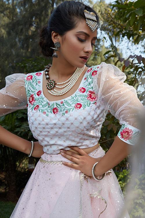 Pink Color Designer Look Lehengacholi With Dupatta Collection (2)