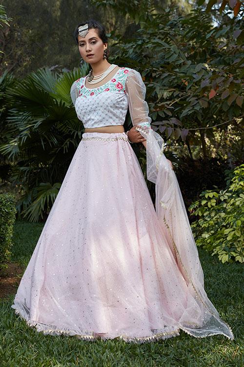 Pink Color Designer Look Lehengacholi With Dupatta Collection (3)