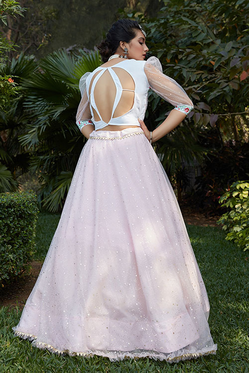 Pink Color Designer Look Lehengacholi With Dupatta Collection (4)