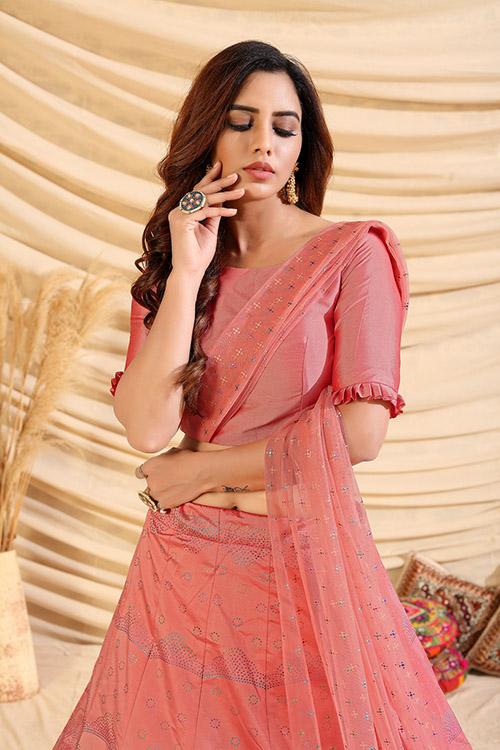 Pink Pigment Exclusive Foil Printed Lehenga Choli (3)