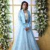Sky Blue Lehenga Choli With Unstitched Koti Product