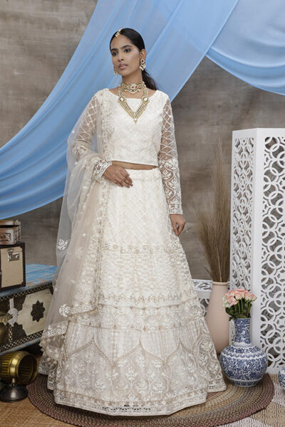 White Color Online Buy Designer Lehenga Choil Collection