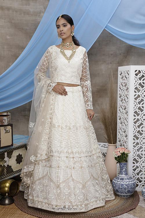 White Color Online Buy Designer Lehenga Choil Collection (1)