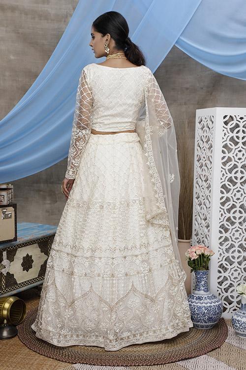 White Color Online Buy Designer Lehenga Choil Collection (4)