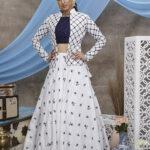White Embroidered Lehenga Choli With Fancy Koti