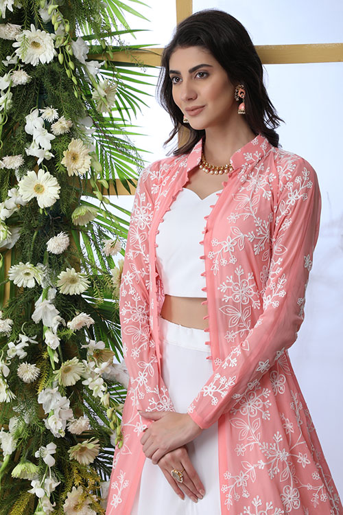 White Exlusive New Stylish Koti Style Lehenga Choli Collection (2)