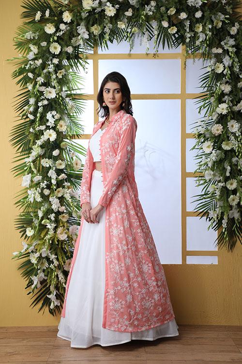 White Exlusive New Stylish Koti Style Lehenga Choli Collection (4)