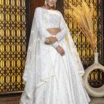 White Foil Printed Lehenga Choli Collection (1)