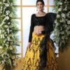 Yellow Color Embroidered Lehenga Choli With Fancy Dupatta