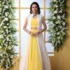 Yellow Lehenga Choli With White Koti Style Product