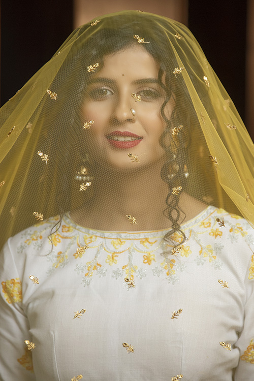 Yellow Lehenga with Contrast Color Choli With Dupatta (1)