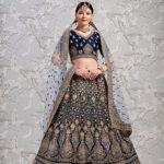 Navy Blue Exclusive Designer Lehenga Choli Collection (1)