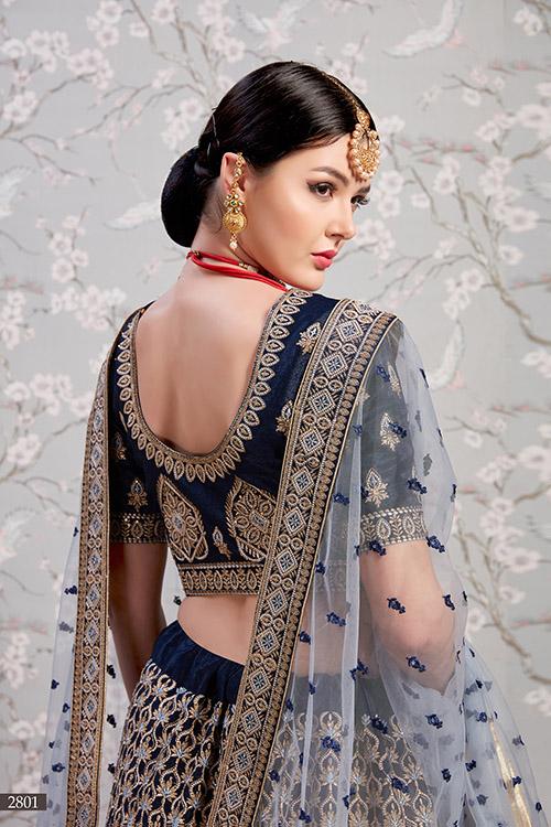 Navy Blue Exclusive Designer Lehenga Choli Collection (5)