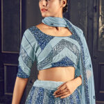 New Designer Grey Color Sequance Embroidered Lehenga Choli (1)