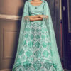 Turquoise Blue Exclusive Sequance Embroidered Bridal Lehenga Choli